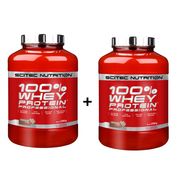 2x Scitec Nutrition 100% Whey Protein Professional 2350gr